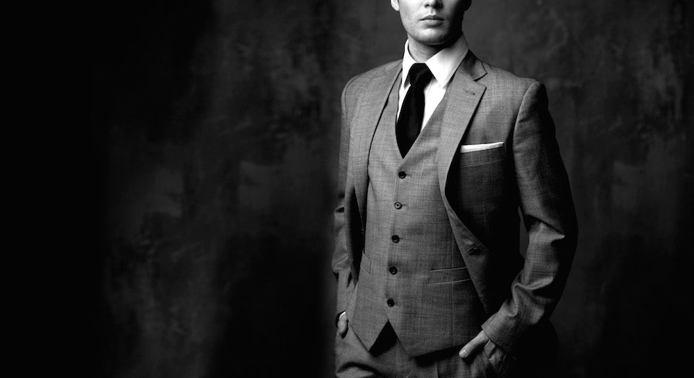 Man in classic suit.