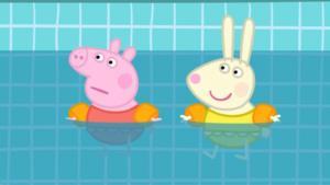 peppa pig in piscina
