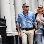 Alessia Marcuzzi a passeggio con il marito Paolo Calabresi per le strade di Londra