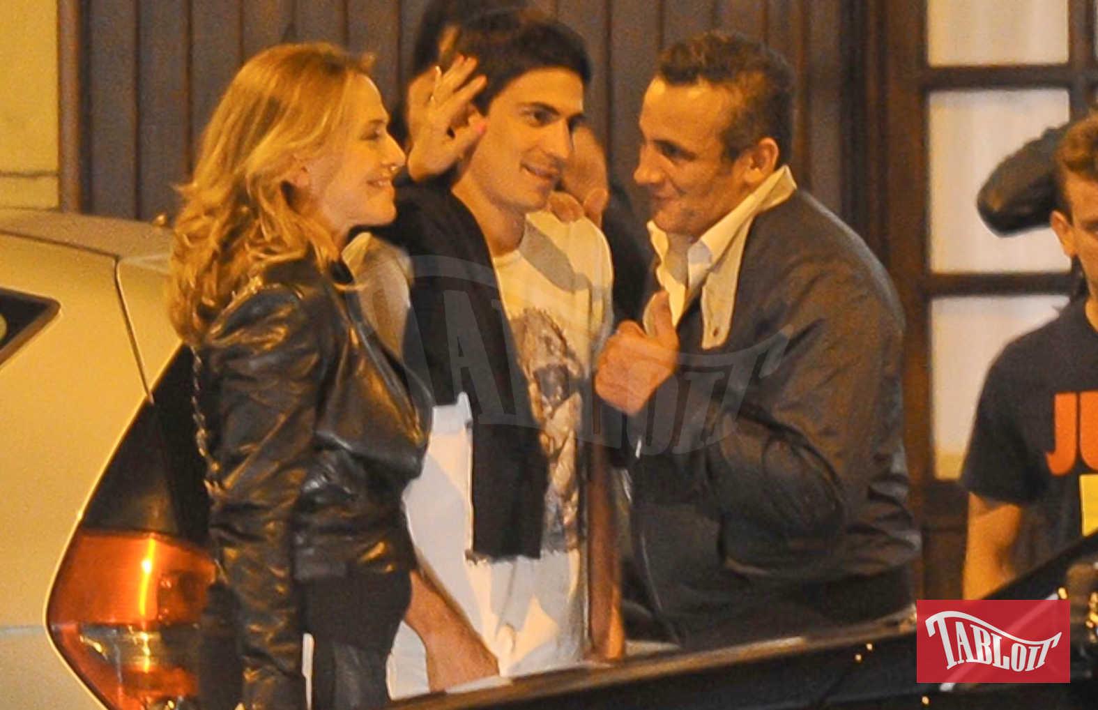 Barbara D'Urso con il figlio e Salvatore Lieto
