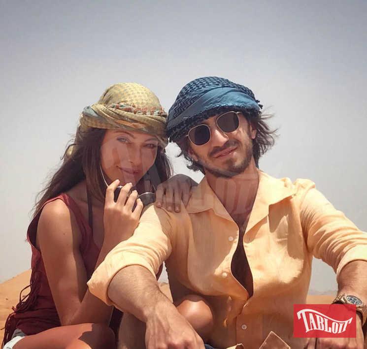 Leonardo Del Vecchio con la sua ex fidanzata, Alessia Tedeschi, durante una vacanza insieme.