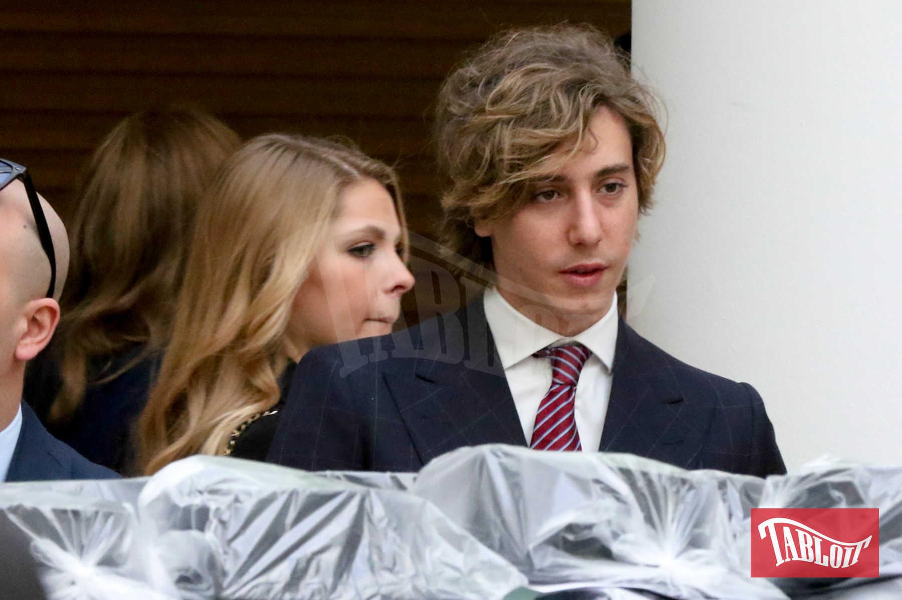 Leonardo Bongiorno, figlio di Mike, nel 2015, ai tempi della sua relazione con l'attrice Valeria Badalamenti