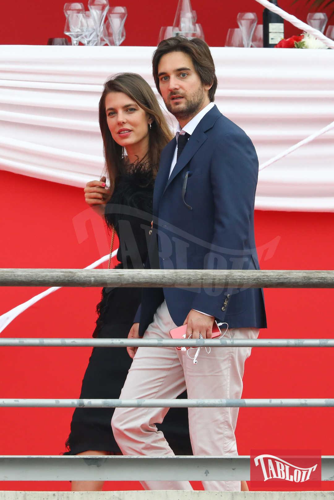 """Charlotte e Dimitri lo scorso giugno a Monaco, in occasione del """"Grand Prix du Prince de Monaco"""" evento clou del concorso ippico Longines Global Champions Tour"""