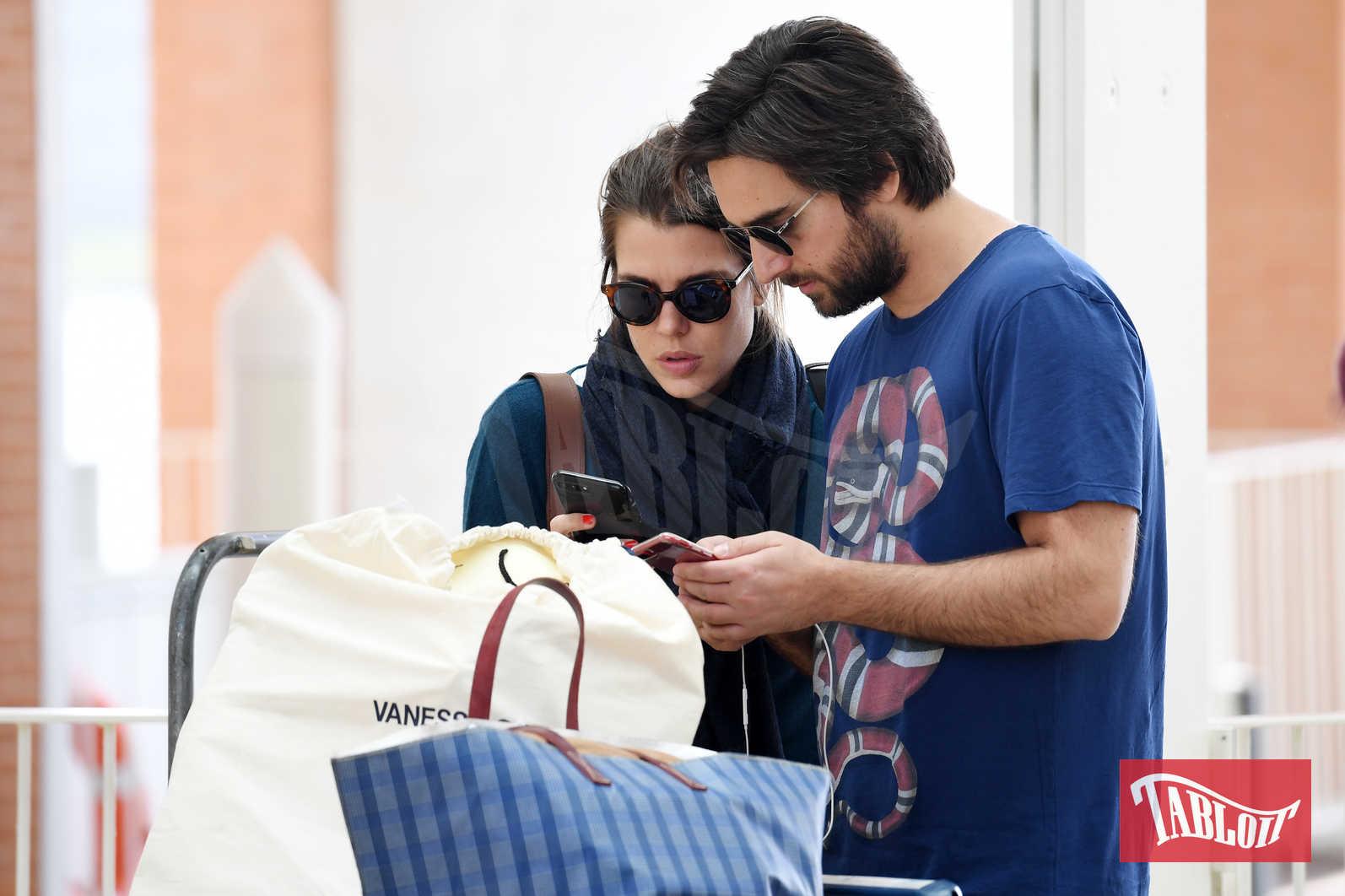 Charlotte Casiraghi e Dimitri Rassam lo scorso maggio. La coppia sta lasciando Venezia, dove era andata in occasione della Biennale d'arte