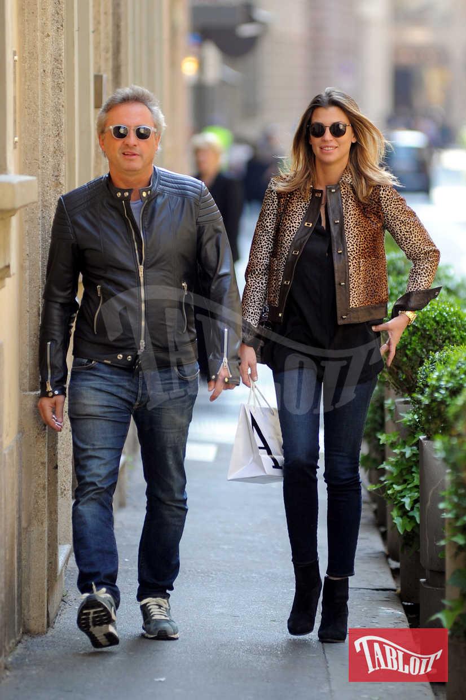 Claudia Galanti con l'ex compagno Tommaso Buti ai tempi del loro amore