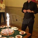 Eros Ramazzotti durante la festa di compleanno a Milano