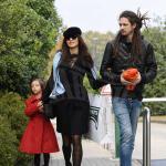 Marica Pellegrinelli con il fratello e la figlia Raffaella Maria