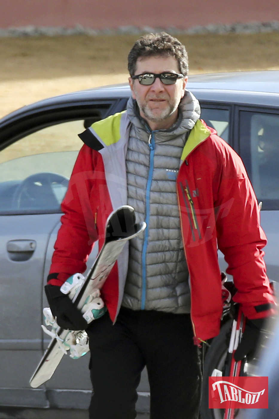 Fabio Fazio fotografato a St. Moritz lo scorso gennaio