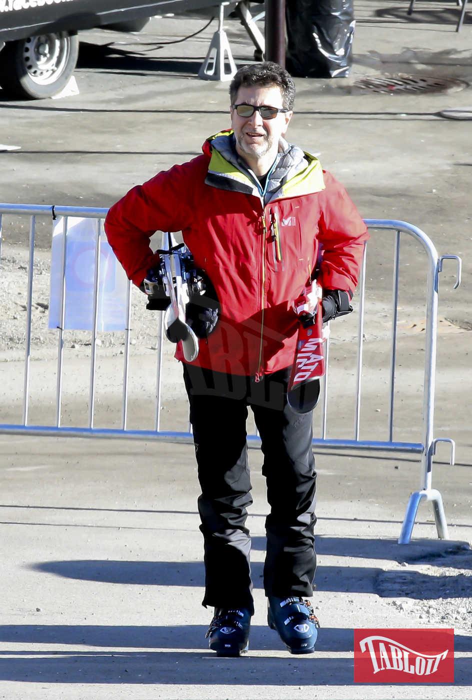 Fabio Fazio durante le vacanze a St. Moritz dello scorso gennaio
