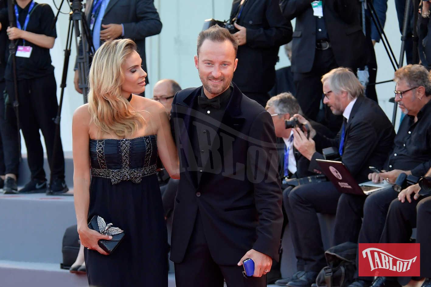Wilma Helena Faissol e Francesco Facchinetti alla Mostra del Cinema di Venezia nel 2016