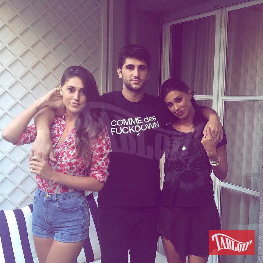 Belen Rodriguez con la sorella Cecilia e il fratello Jeremias in una foto pubblicata sul profilo Instagram della showgirl argentina