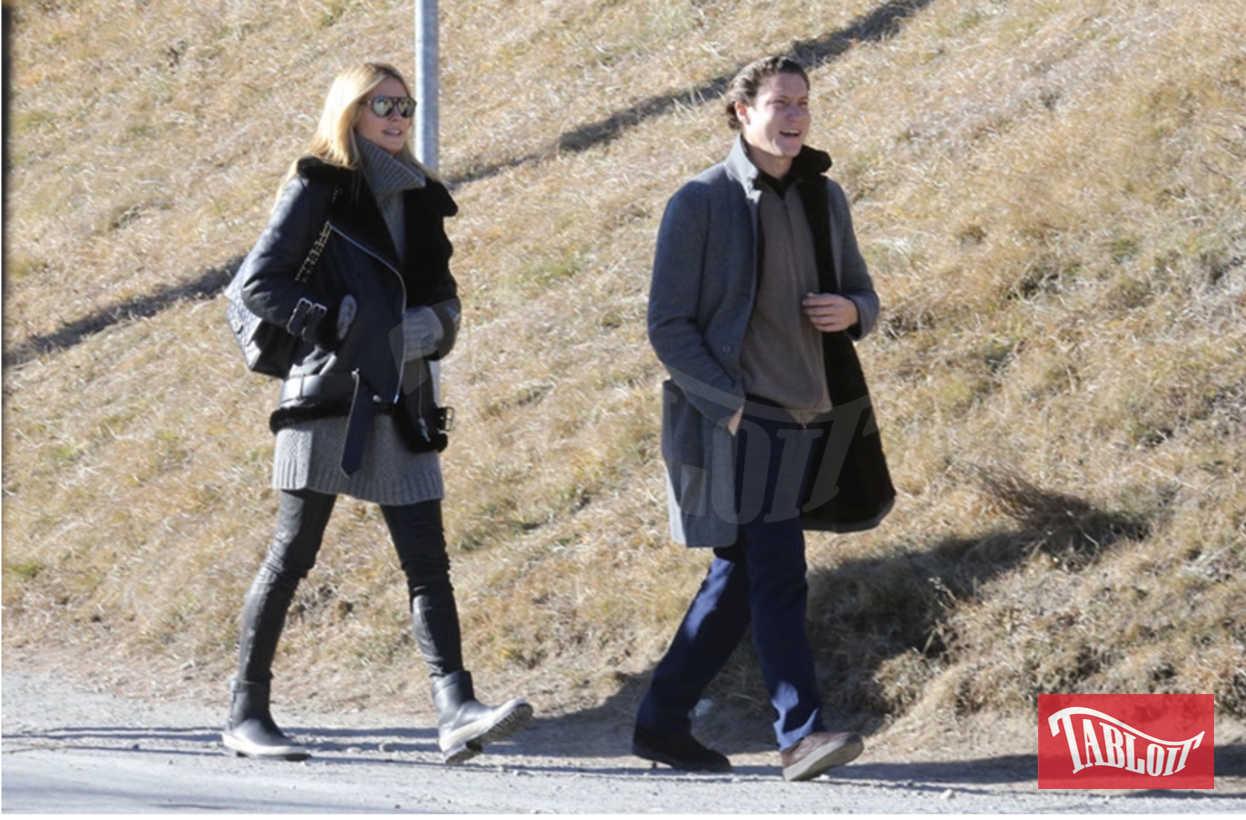 Heidi Klum e Vito Schnabel nel 2015 a St. Moritz. Sembra che i due si siano lasciati a causa della distanza: lei vive a Los Angeles con i quattro figli, lui a New York
