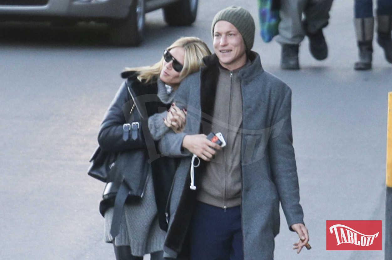 Heidi Klum e Vito Schnabel nel 2015 a St. Moritz. I due si sono lasciati a settembre ma sembra proprio che tra loro la fiamma non si sia spenta