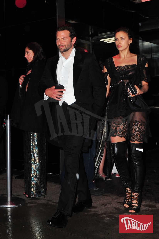 Irina Shayk e Bradley Cooper all'after party del Met Gala a New York, nel maggio 2016