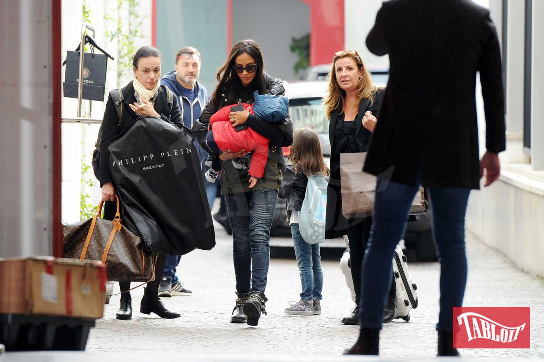 Juliana Moreira a poche ore dal sì: insieme ai figli e ad alcuni parenti corre in hotel a provarsi l'abito da sposa