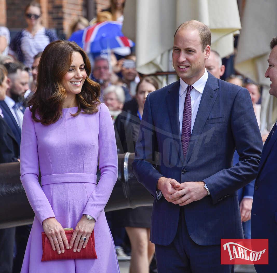 Kate Middleton in una recente visita ad Amburgo con il marito William