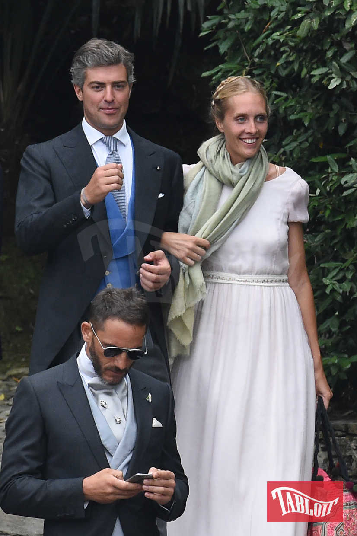 Matilde Borromeo e Antonius Von Furstenberg alle nozze di Beatrice Borromeo e Pierre Casiraghi sull' Isola di San Giovanni