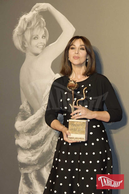 Monica Bellucci a Roma per il premio Virna Lisi