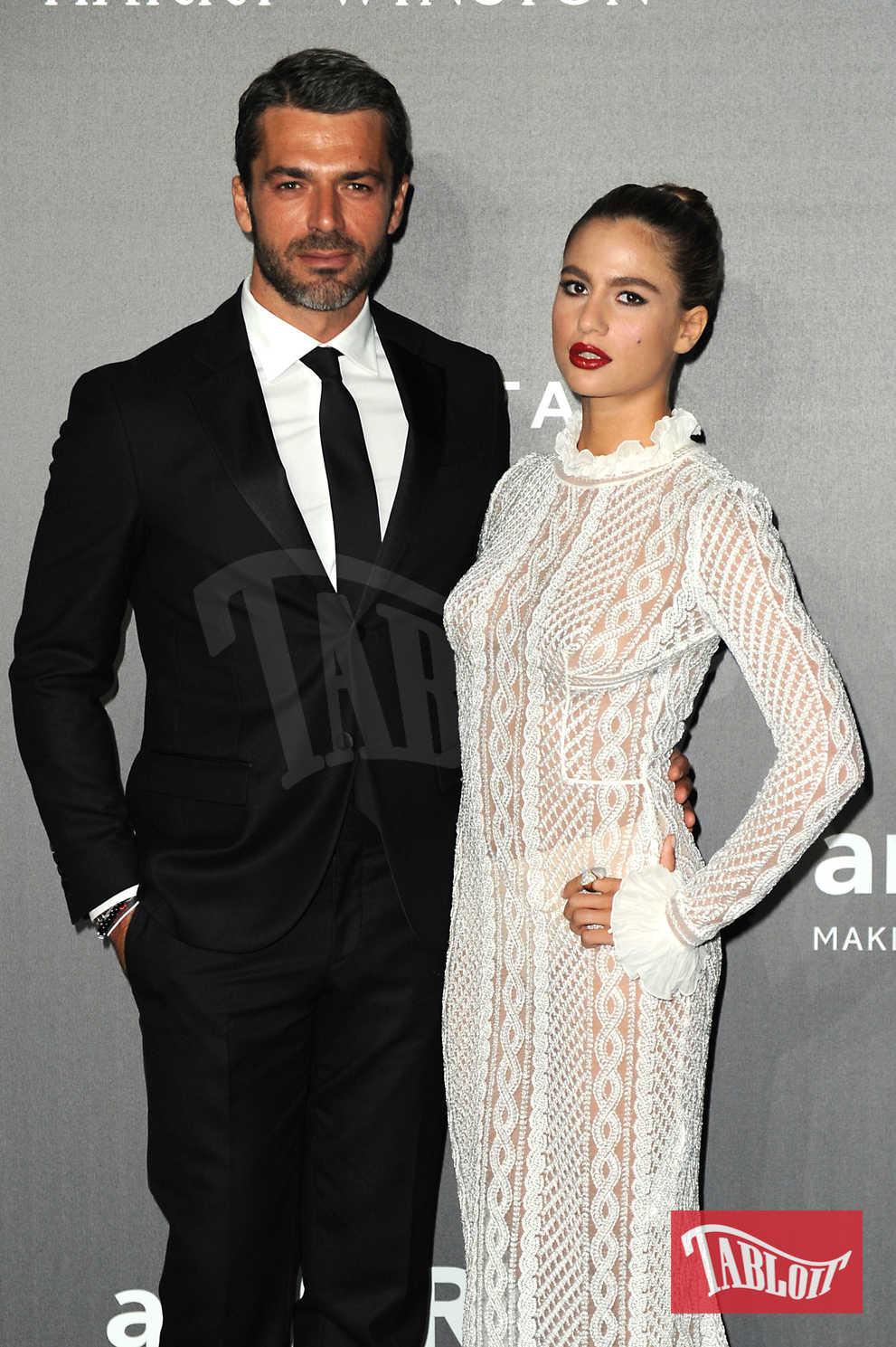 Luca Argentero e la fidanzata Cristina Marino al gala amfAR di Milano lo scorso settembre