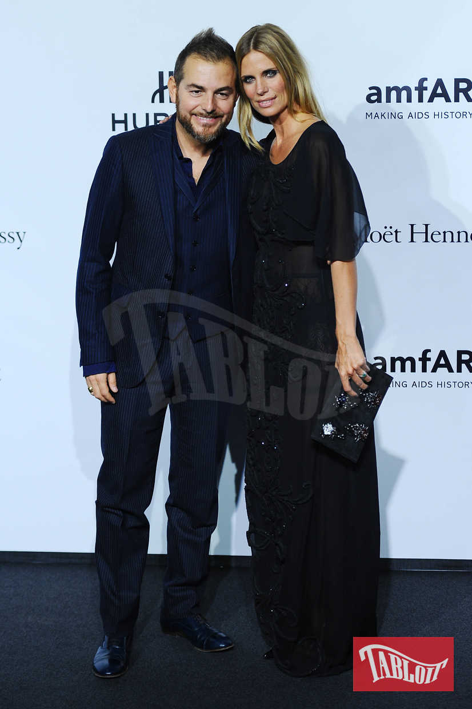 Daniele Bossari e Filippa Lagerback al gala amfAR di Milano nel 2013. La coppia sta insieme dal 2001: nel 2003 è nata la loro unica figlia, Stella