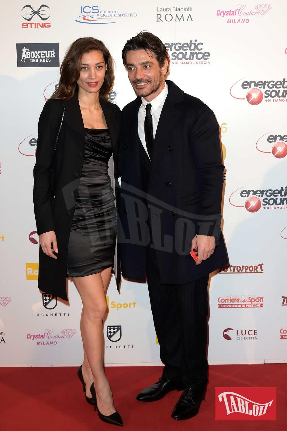 Margareth Madè e Giuseppe Zeno sul red carpet in occasione di un evento mondano a Roma
