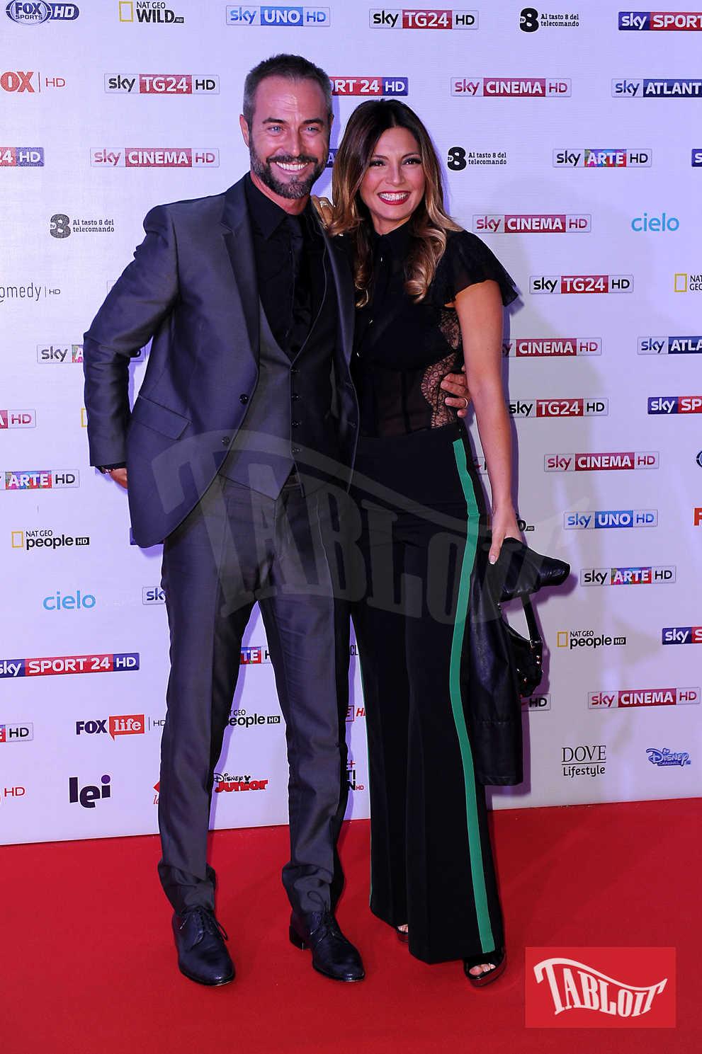 Alessia Mancini con il marito Flavio Montrucchio ad un evento mondano dello scorso settembre