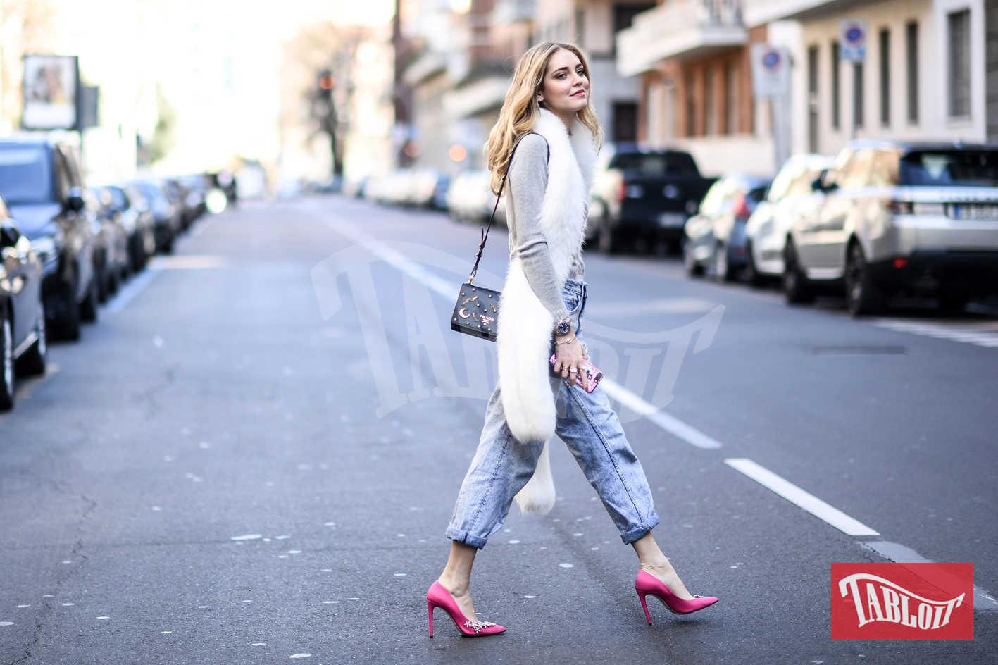 Chiara Ferragni alla Milano Fashion Week dello scorso febbraio