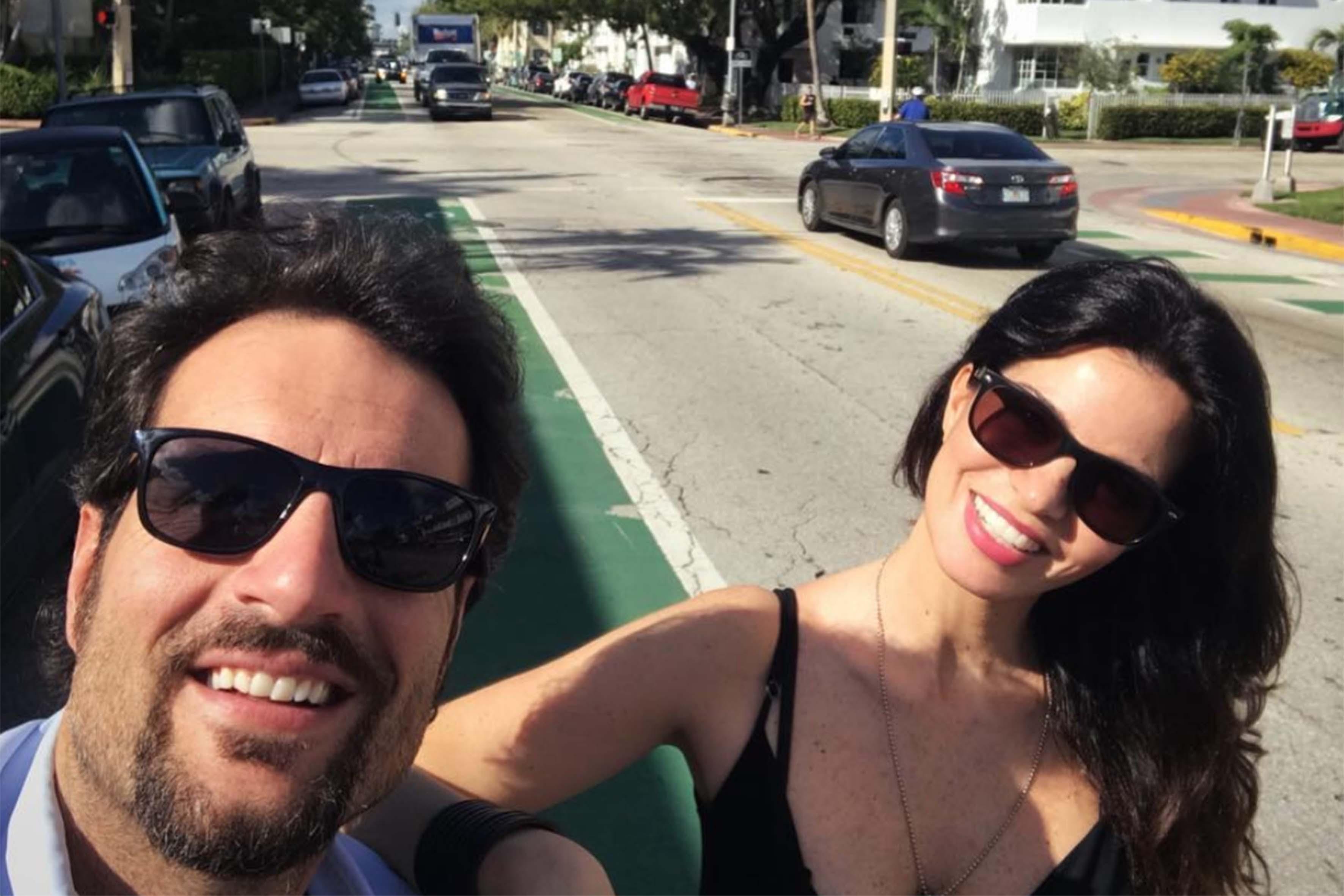Laura Torrisi con il compagno Luca Betti
