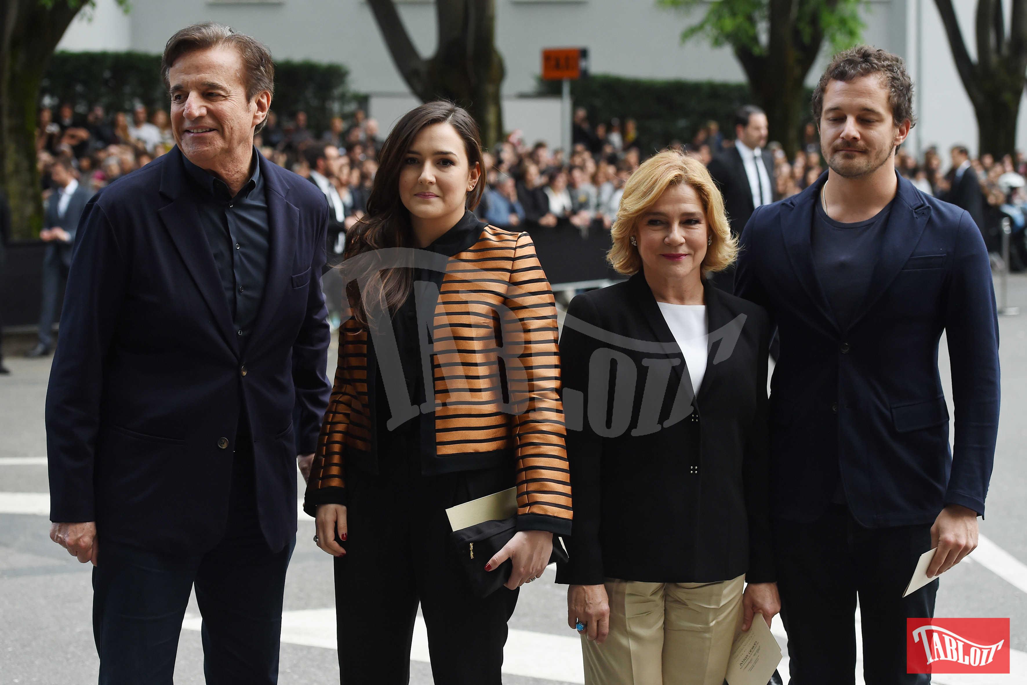 Christian De Sica, Maria Rosa De Sica, Silvia Verdone e Brando De Sica