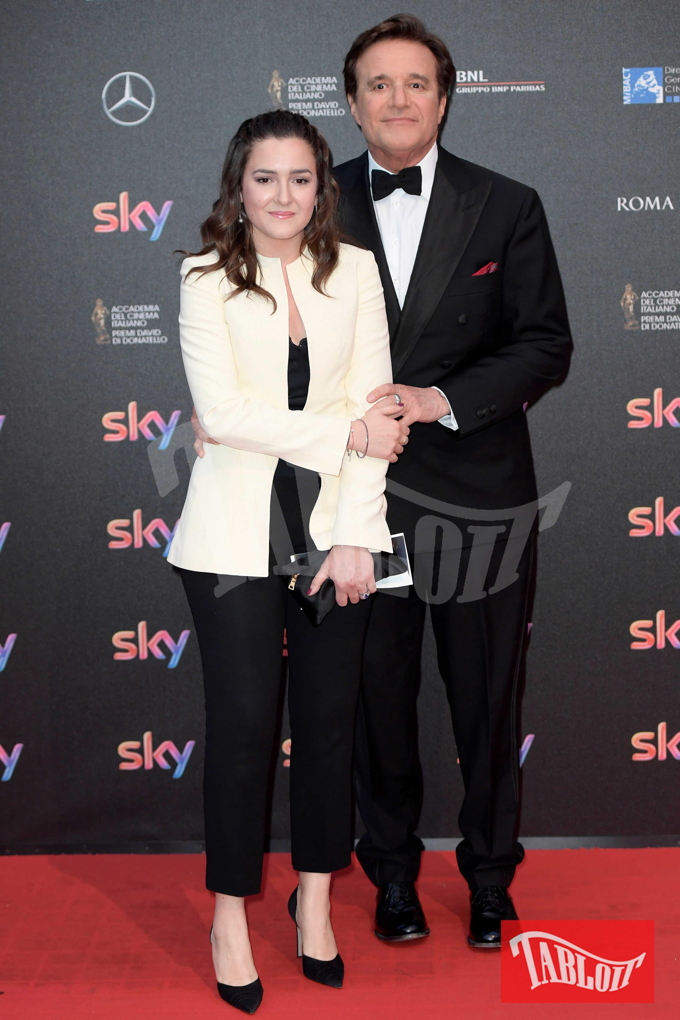 Christian De Sica e Maria Rosa De Sica ai David di Donatello del 2016