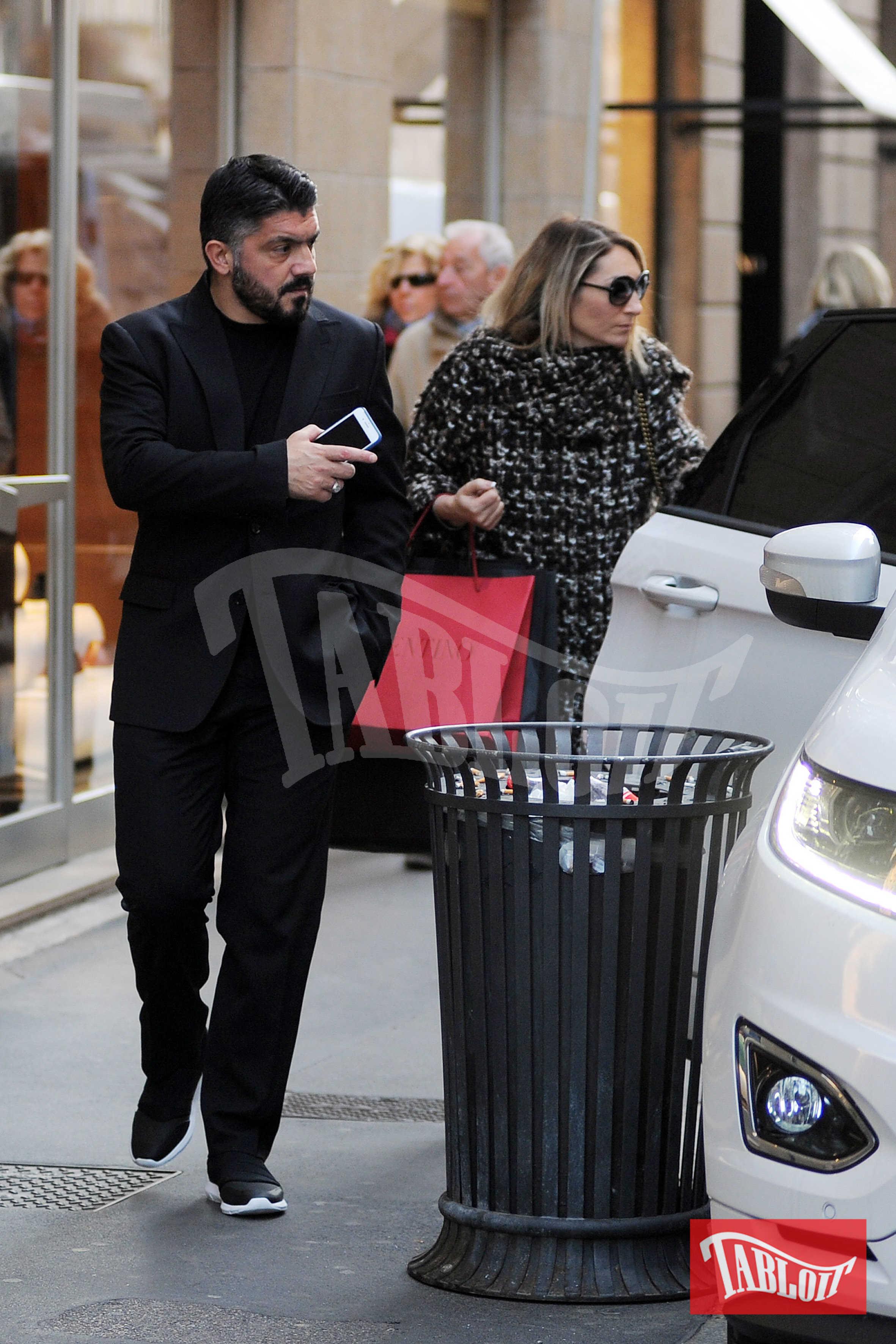 Gennaro Gattuso e la moglie Monica Romano