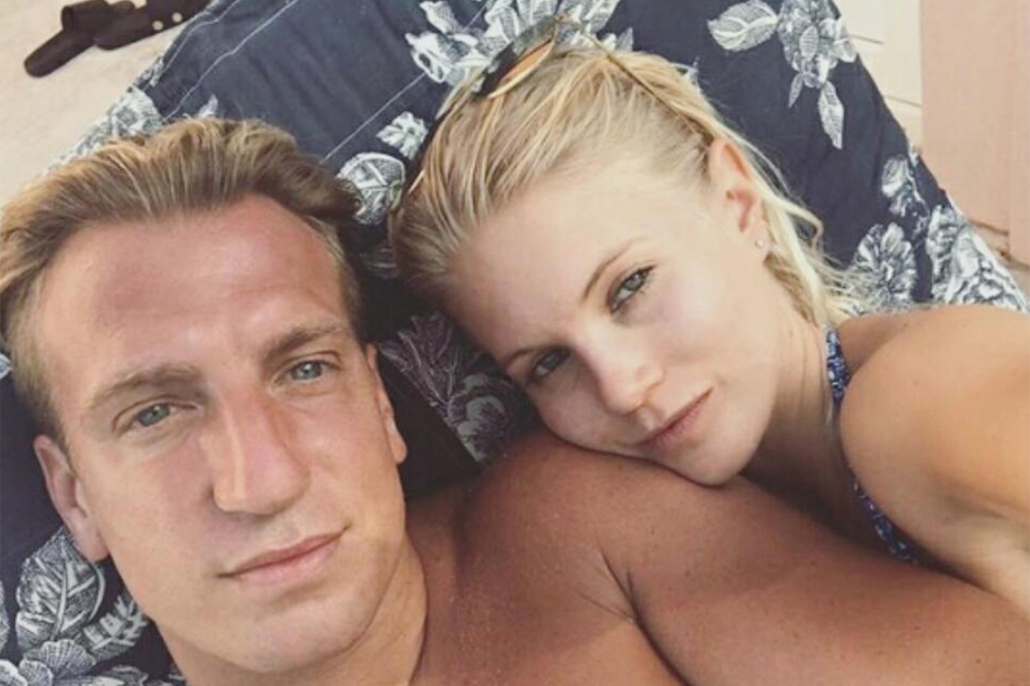 Maxi Lopez con l'attuale fidanzata, la modella svedese Daniela Christiansson
