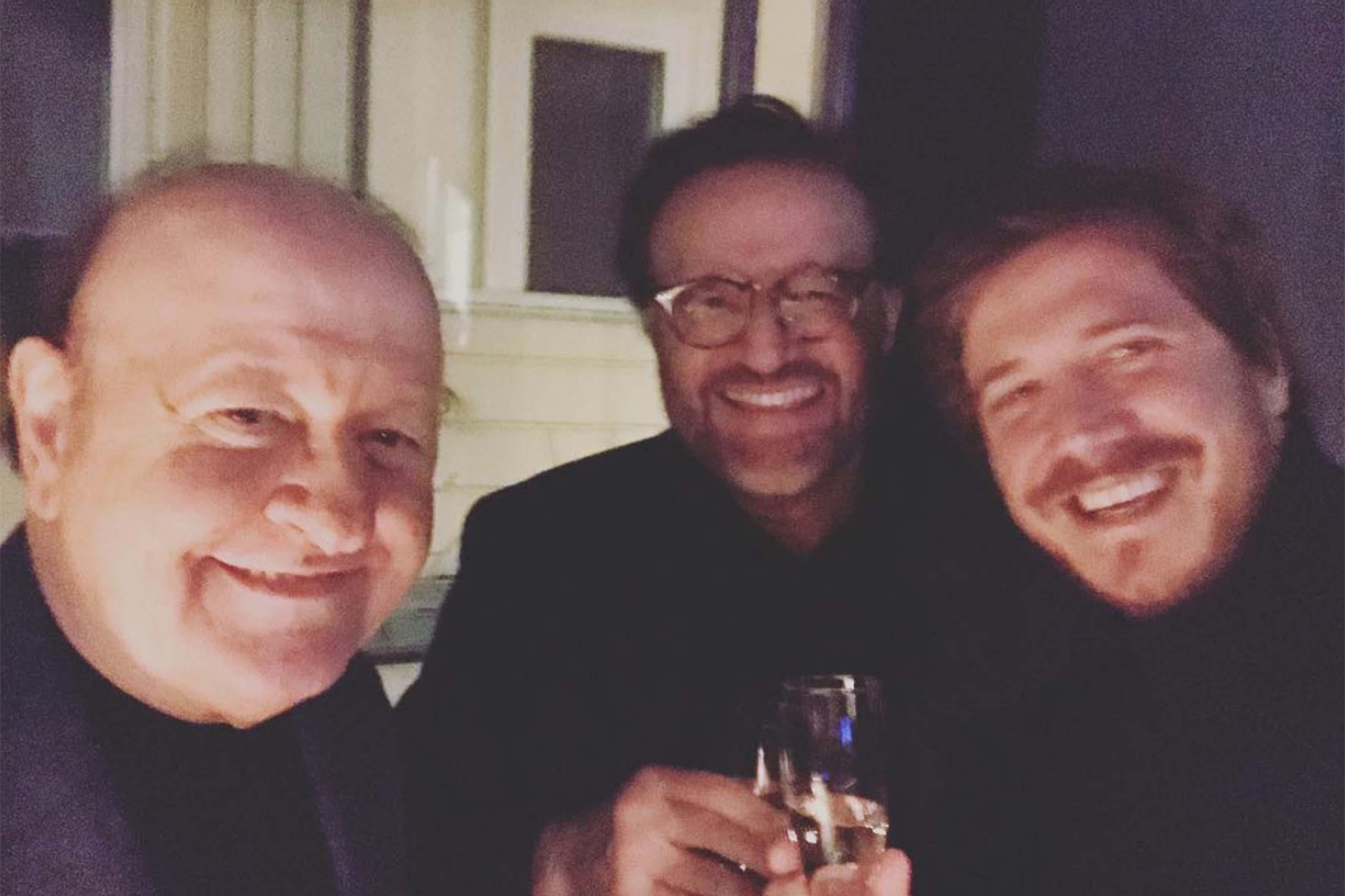 Christian De Sica, Massimo Boldi e Niccolò Pettito