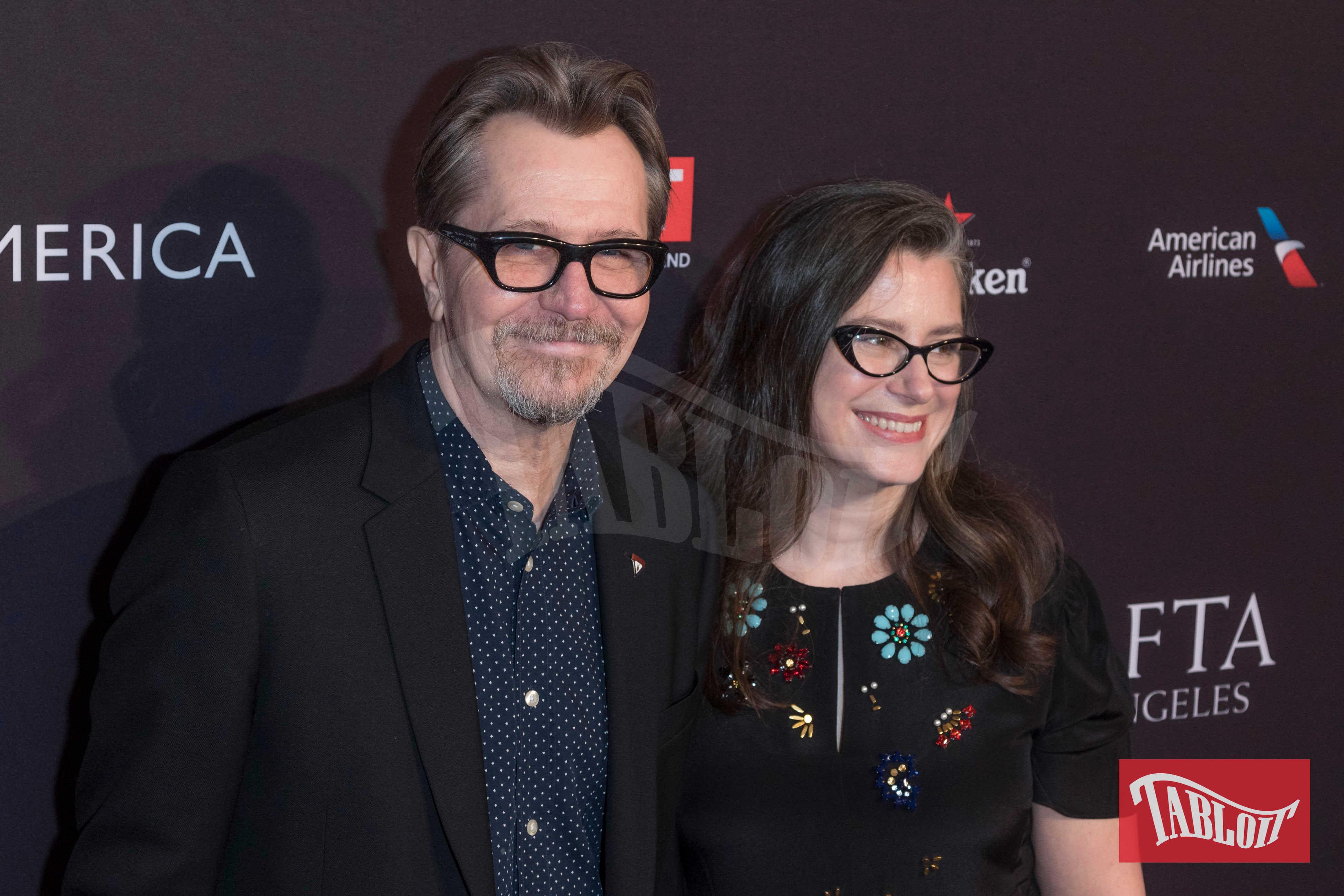 Gary Oldman con la moglie Gisele Schmidt