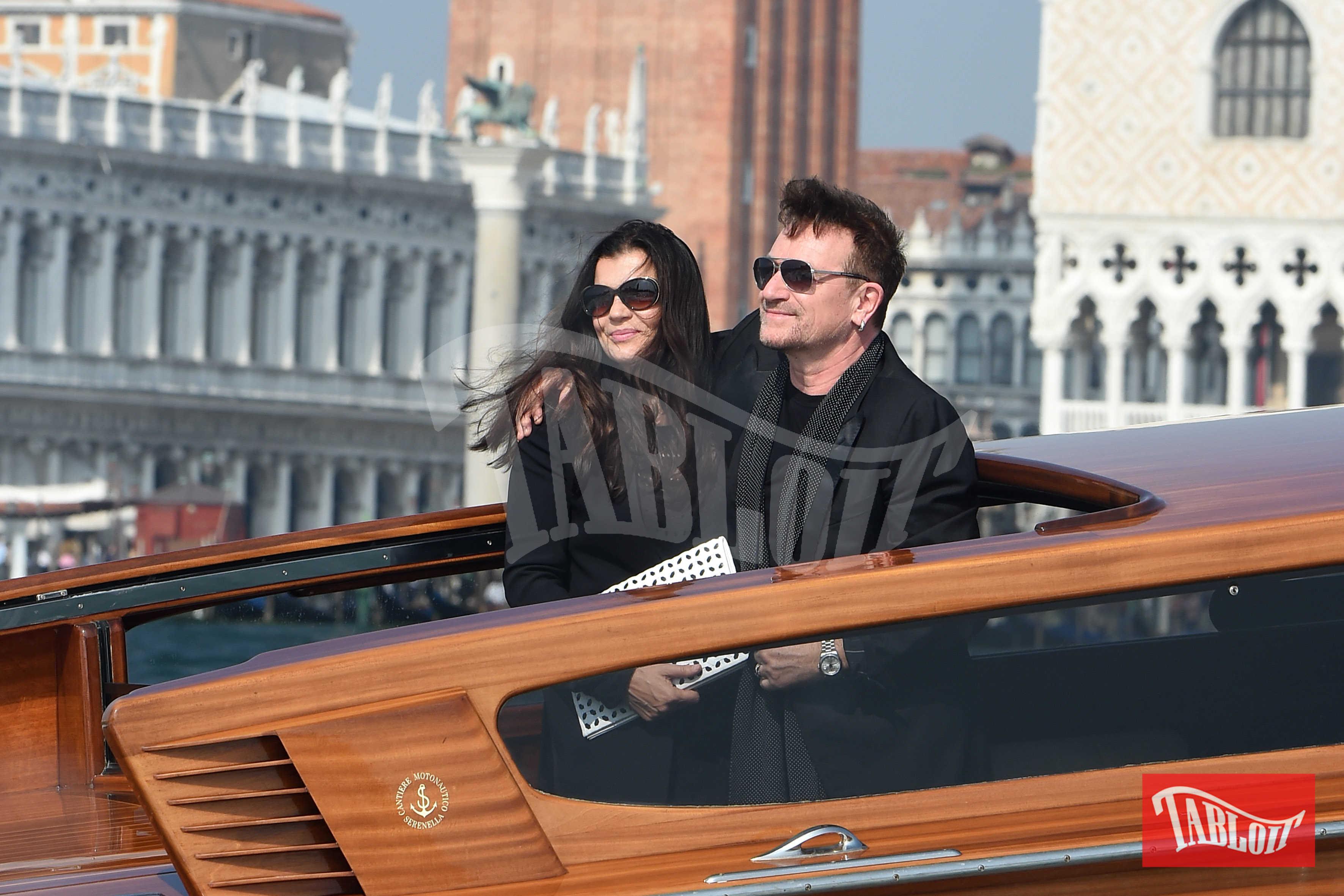 Bono Vox e la moglie Alison Stewart a Venezia