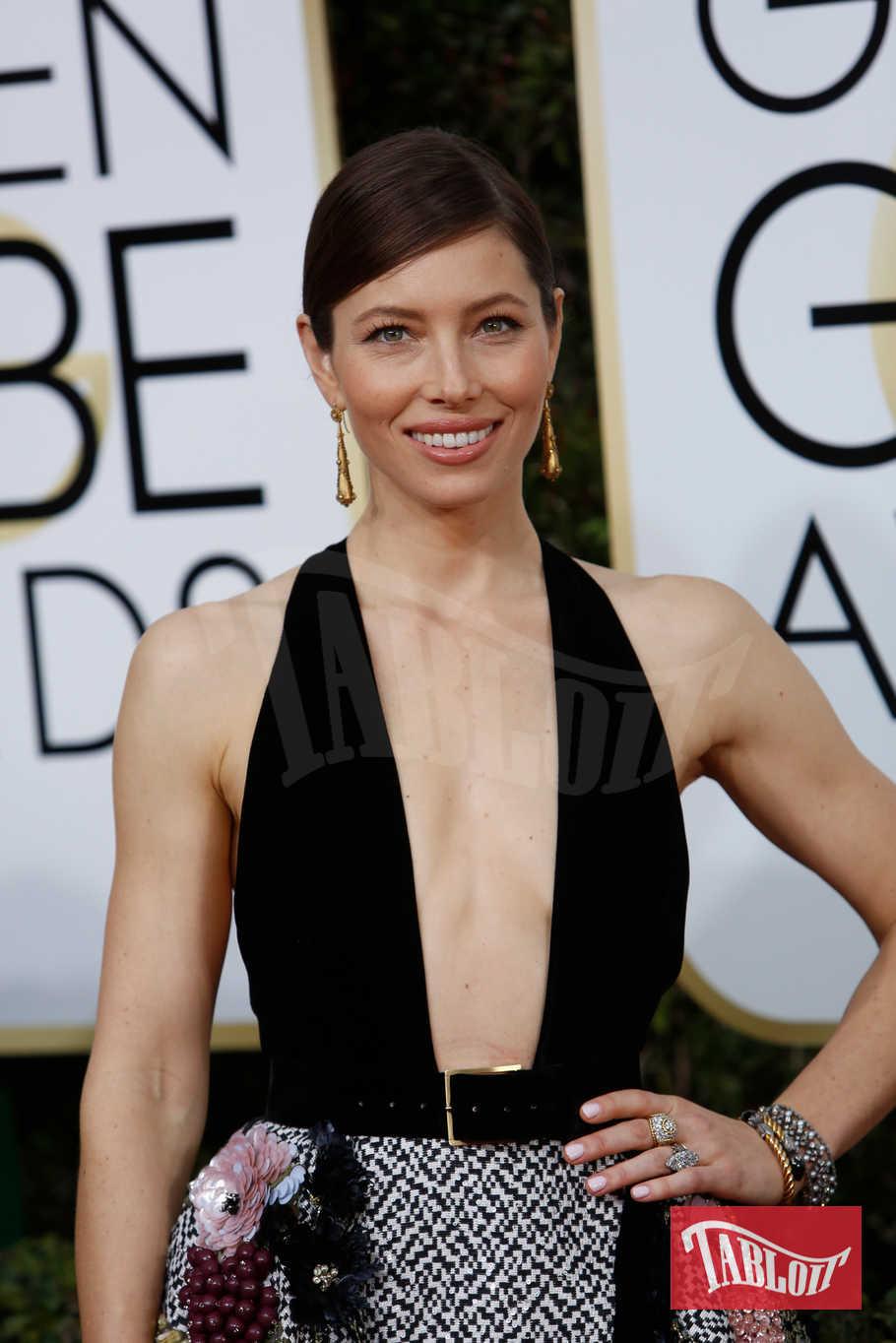 Jessica Biel ai Golden Globes dello scorso anno