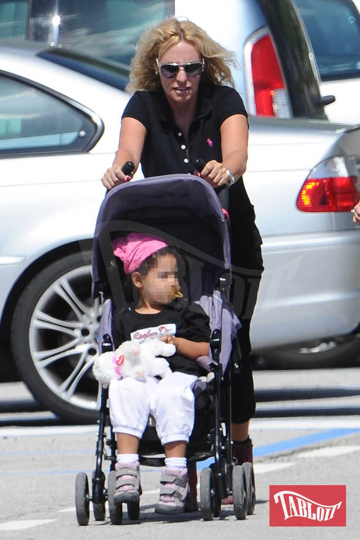 Antonella Clerici con la figlia Maelle
