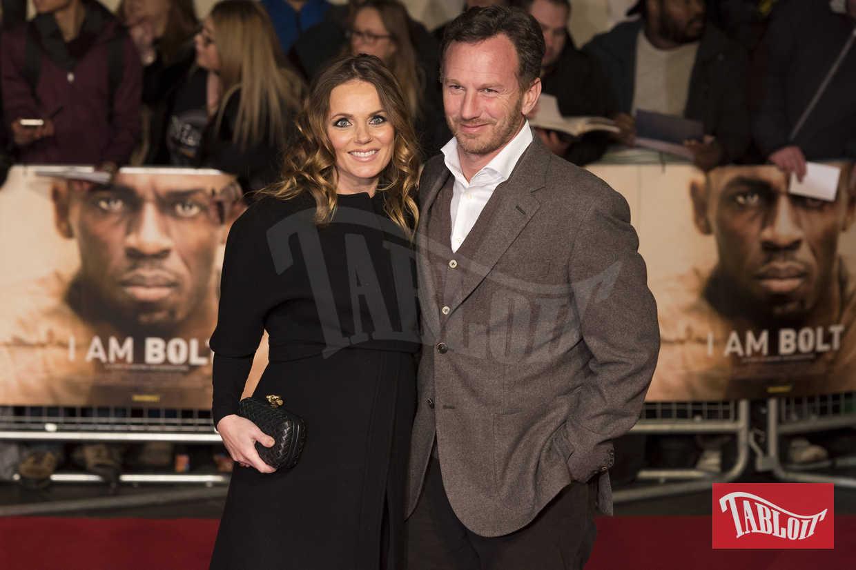 Geri Halliwell e il marito Christian Horner