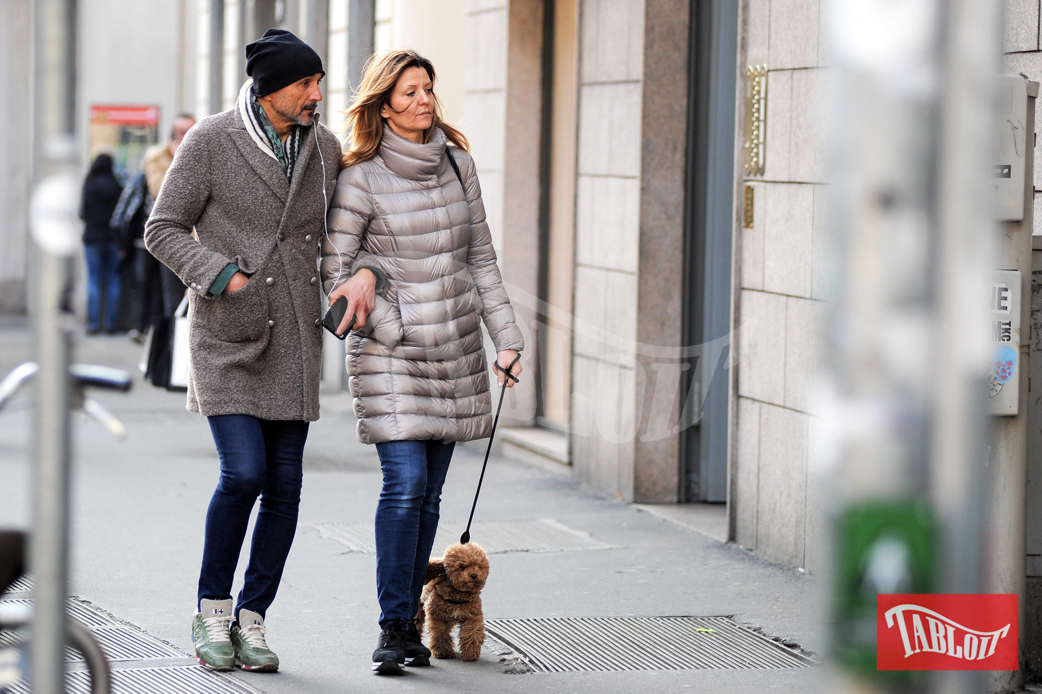 Luciano Spalletti con la moglie Tamara Spalletti