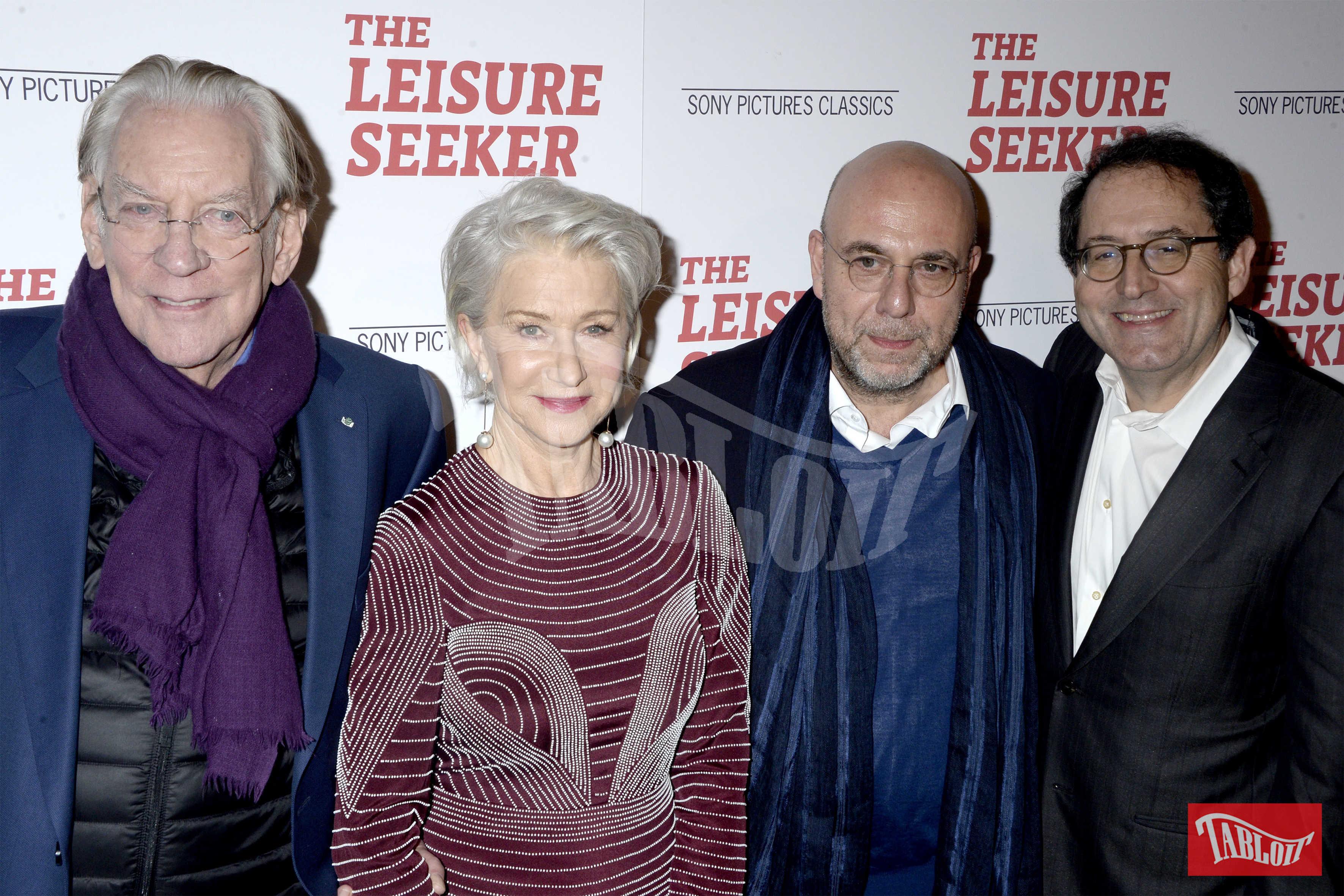 Donald Sutherland, Helen Mirren, Paolo Virzì e il presidente della Sony Pictures Classics Michael Barker