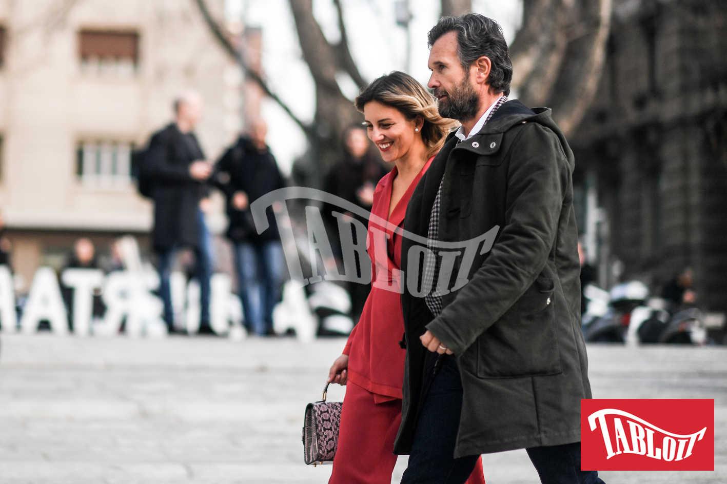 Carlo Cracco con la moglie Rosa Fanti