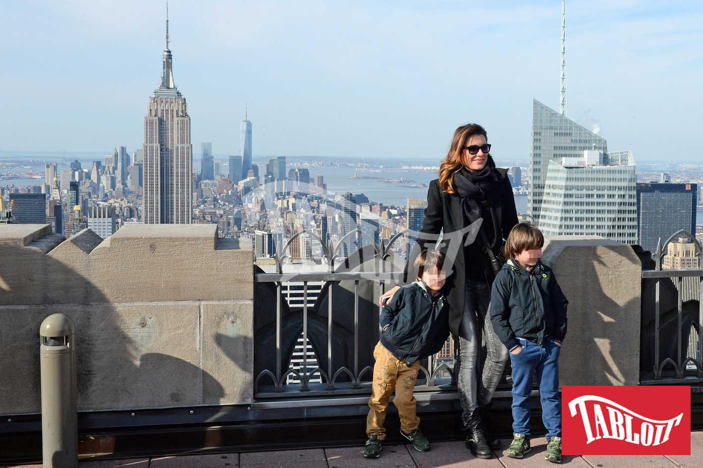 Alena Seredova durante una vacanza a New York con i figli
