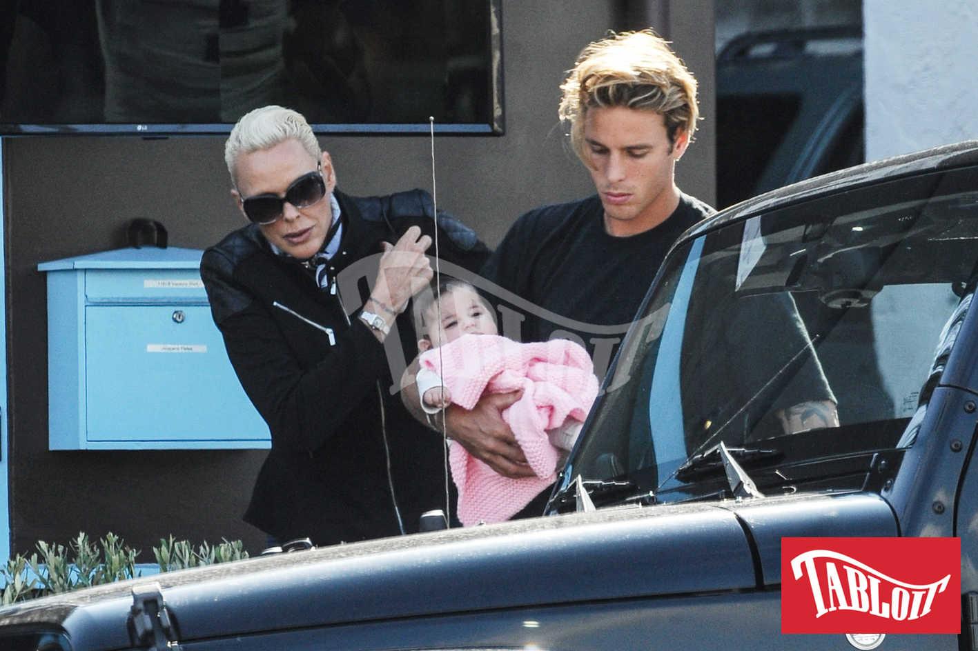 Brigitte Nielsen figlia Frida e il figlio aaron