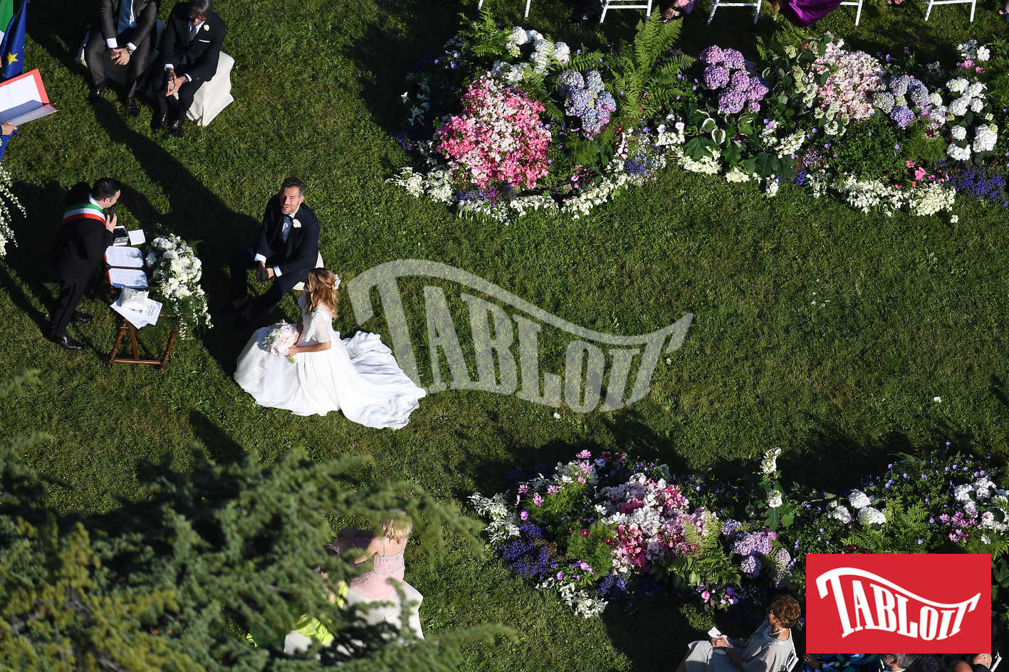 nozze daniele bossari filippa lagerback foto dei paparazzi