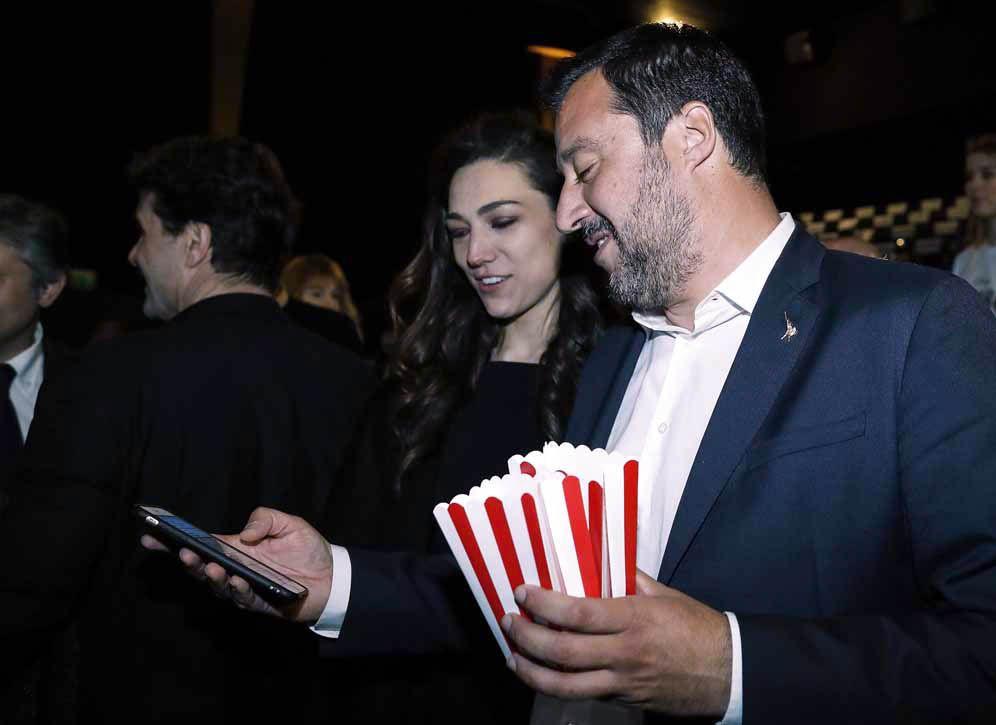 Matteo Salvini con Francesca Verdini
