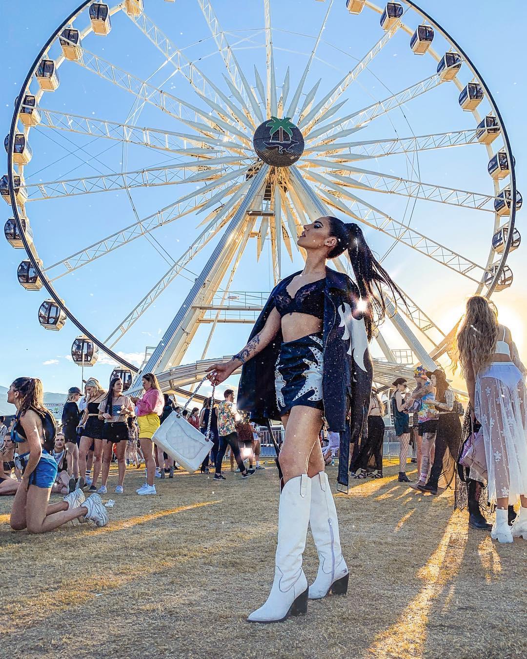 Giulia De Lellis al Coachella, ecco il suo outfit