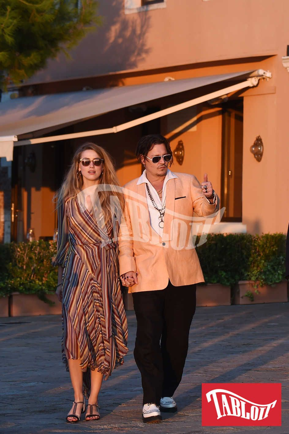 Johnny Depp e Amber Heard a Venezia