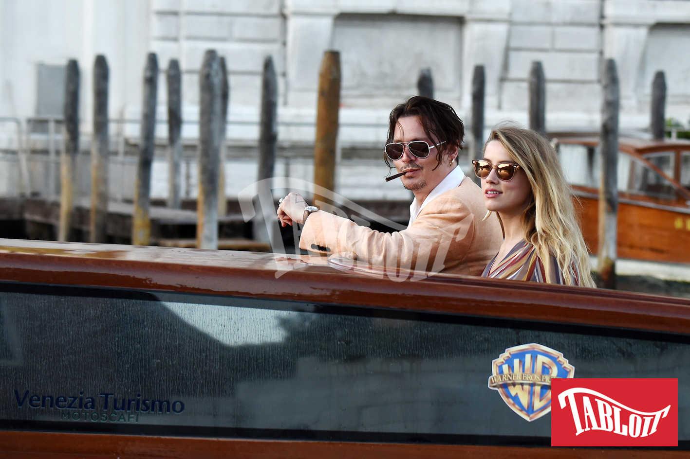 Johnny Depp e la ex moglie Amber Heard