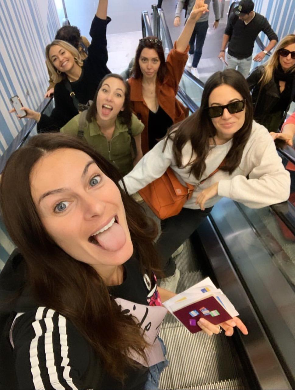 Le ragazze in partenza per Marrakech