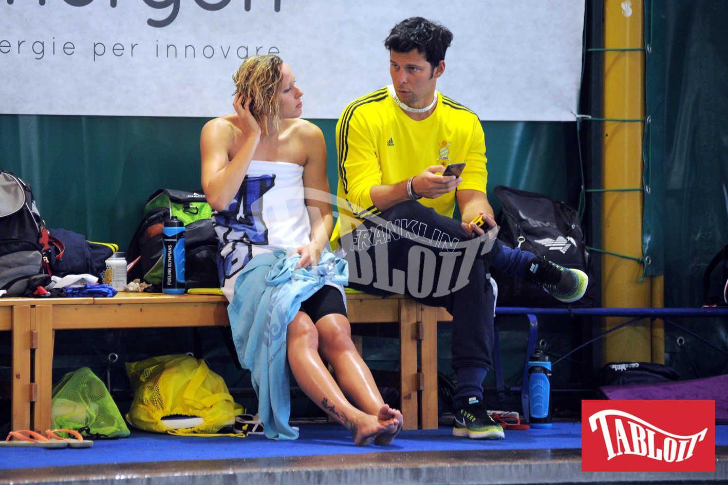 Federica Pellegrini e il suo coach Matteo Giunta